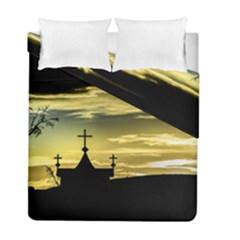Graves At Side Of Road In Santa Cruz, Argentina Duvet Cover Double Side (Full/ Double Size)