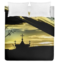 Graves At Side Of Road In Santa Cruz, Argentina Duvet Cover Double Side (Queen Size)