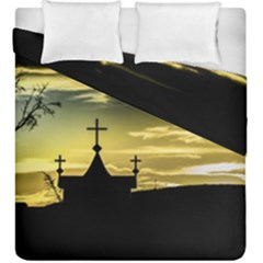 Graves At Side Of Road In Santa Cruz, Argentina Duvet Cover Double Side (King Size)