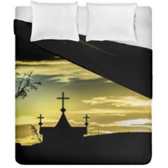 Graves At Side Of Road In Santa Cruz, Argentina Duvet Cover Double Side (California King Size)