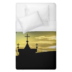 Graves At Side Of Road In Santa Cruz, Argentina Duvet Cover (Single Size)