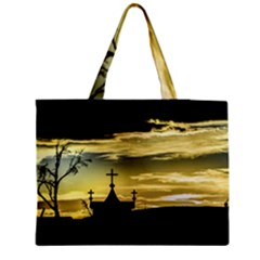 Graves At Side Of Road In Santa Cruz, Argentina Medium Zipper Tote Bag