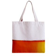 The Wine Bubbles Background Zipper Grocery Tote Bag