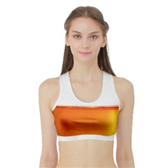 The Wine Bubbles Background Sports Bra With Border