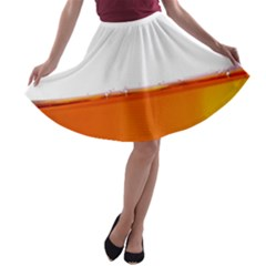 The Wine Bubbles Background A-line Skater Skirt