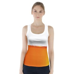 The Wine Bubbles Background Racer Back Sports Top