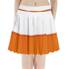 The Wine Bubbles Background Pleated Mini Skirt