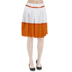 The Wine Bubbles Background Pleated Skirt