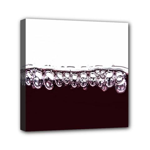 Bubbles In Red Wine Mini Canvas 6  x 6