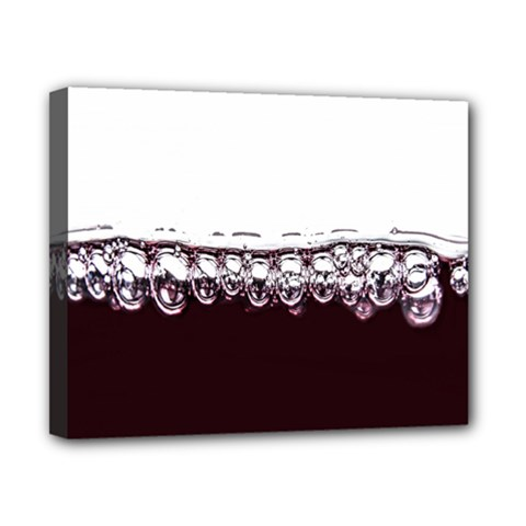 Bubbles In Red Wine Canvas 10  X 8