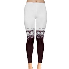 Bubbles In Red Wine Leggings