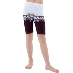 Bubbles In Red Wine Kids  Mid Length Swim Shorts