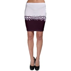 Bubbles In Red Wine Bodycon Skirt