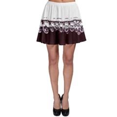 Bubbles In Red Wine Skater Skirt