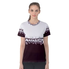 Bubbles In Red Wine Women s Cotton Tee