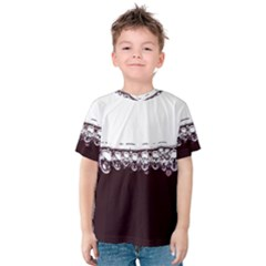 Bubbles In Red Wine Kids  Cotton Tee