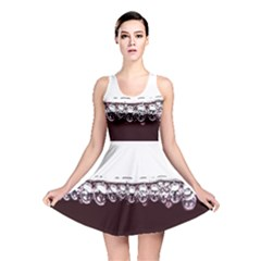 Bubbles In Red Wine Reversible Skater Dress