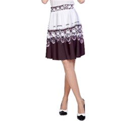 Bubbles In Red Wine A-Line Skirt