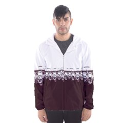 Bubbles In Red Wine Hooded Wind Breaker (Men)