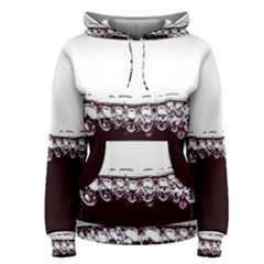 Bubbles In Red Wine Women s Pullover Hoodie