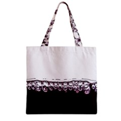 Bubbles In Red Wine Zipper Grocery Tote Bag