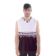 Bubbles In Red Wine Men s Basketball Tank Top