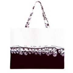 Bubbles In Red Wine Zipper Large Tote Bag