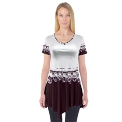 Bubbles In Red Wine Short Sleeve Tunic