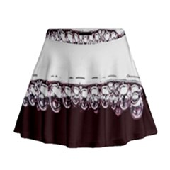 Bubbles In Red Wine Mini Flare Skirt