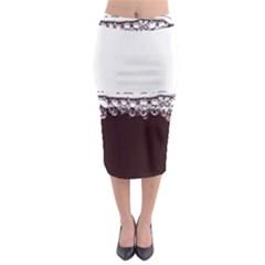 Bubbles In Red Wine Midi Pencil Skirt