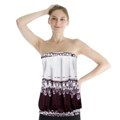 Bubbles In Red Wine Strapless Top
