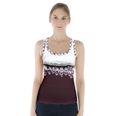 Bubbles In Red Wine Racer Back Sports Top