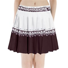 Bubbles In Red Wine Pleated Mini Skirt