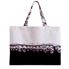 Bubbles In Red Wine Medium Zipper Tote Bag