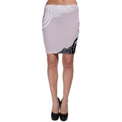 Circles Background Bodycon Skirt