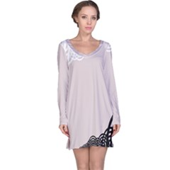 Circles Background Long Sleeve Nightdress