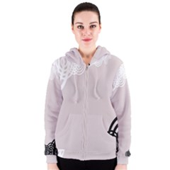 Circles Background Women s Zipper Hoodie