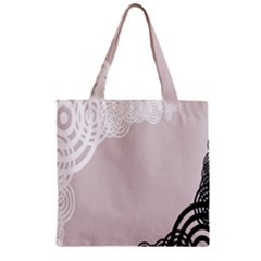Circles Background Zipper Grocery Tote Bag