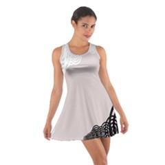 Circles Background Cotton Racerback Dress