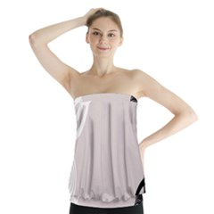 Circles Background Strapless Top