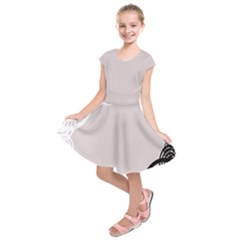 Circles Background Kids  Short Sleeve Dress