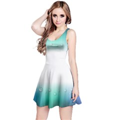 Blue Stripe With Water Droplets Reversible Sleeveless Dress