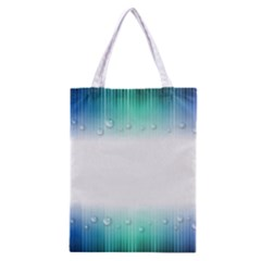 Blue Stripe With Water Droplets Classic Tote Bag