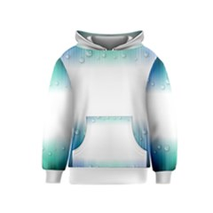 Blue Stripe With Water Droplets Kids  Pullover Hoodie
