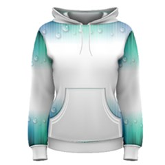 Blue Stripe With Water Droplets Women s Pullover Hoodie
