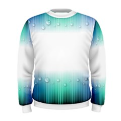 Blue Stripe With Water Droplets Men s Sweatshirt
