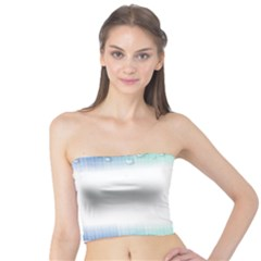 Blue Stripe With Water Droplets Tube Top