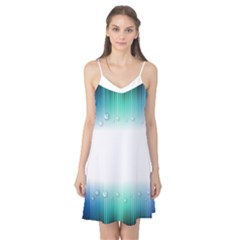 Blue Stripe With Water Droplets Camis Nightgown