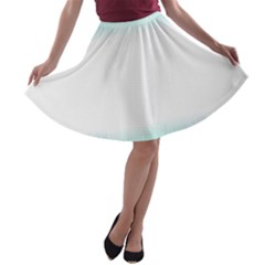 Blue Stripe With Water Droplets A-line Skater Skirt