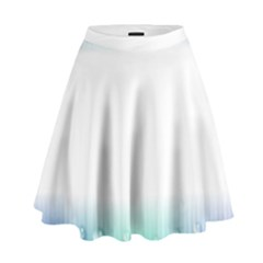 Blue Stripe With Water Droplets High Waist Skirt